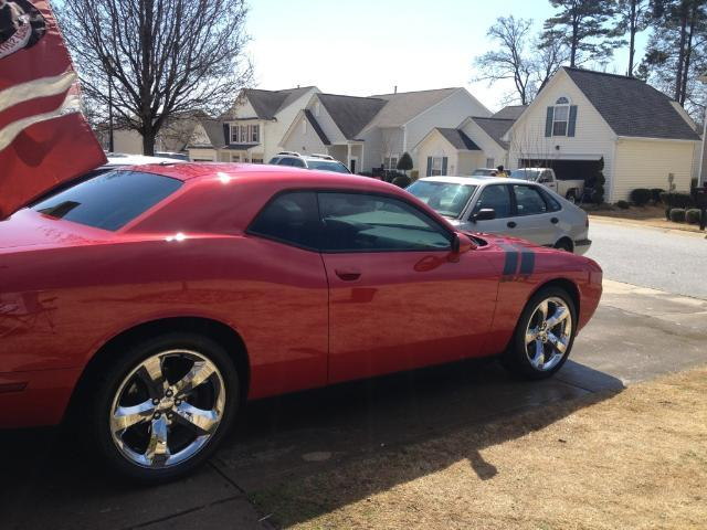 canyon red 2012 Dodge Challenger RT