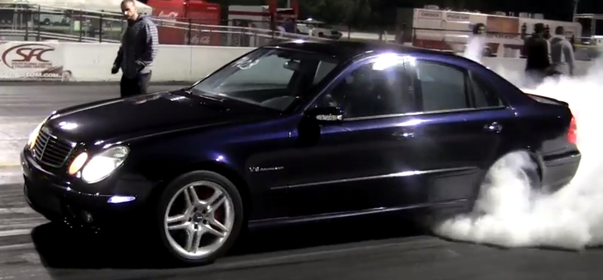2005 mercedes benz e55 amg 1 4 mile drag racing timeslip for 2005 mercedes benz e55 amg