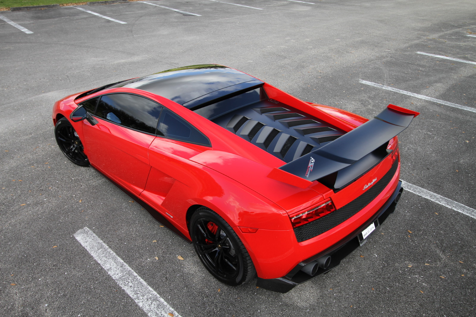 Red/Black 2012 Lamborghini Gallardo LP570-4 Super Trofeo Stradale