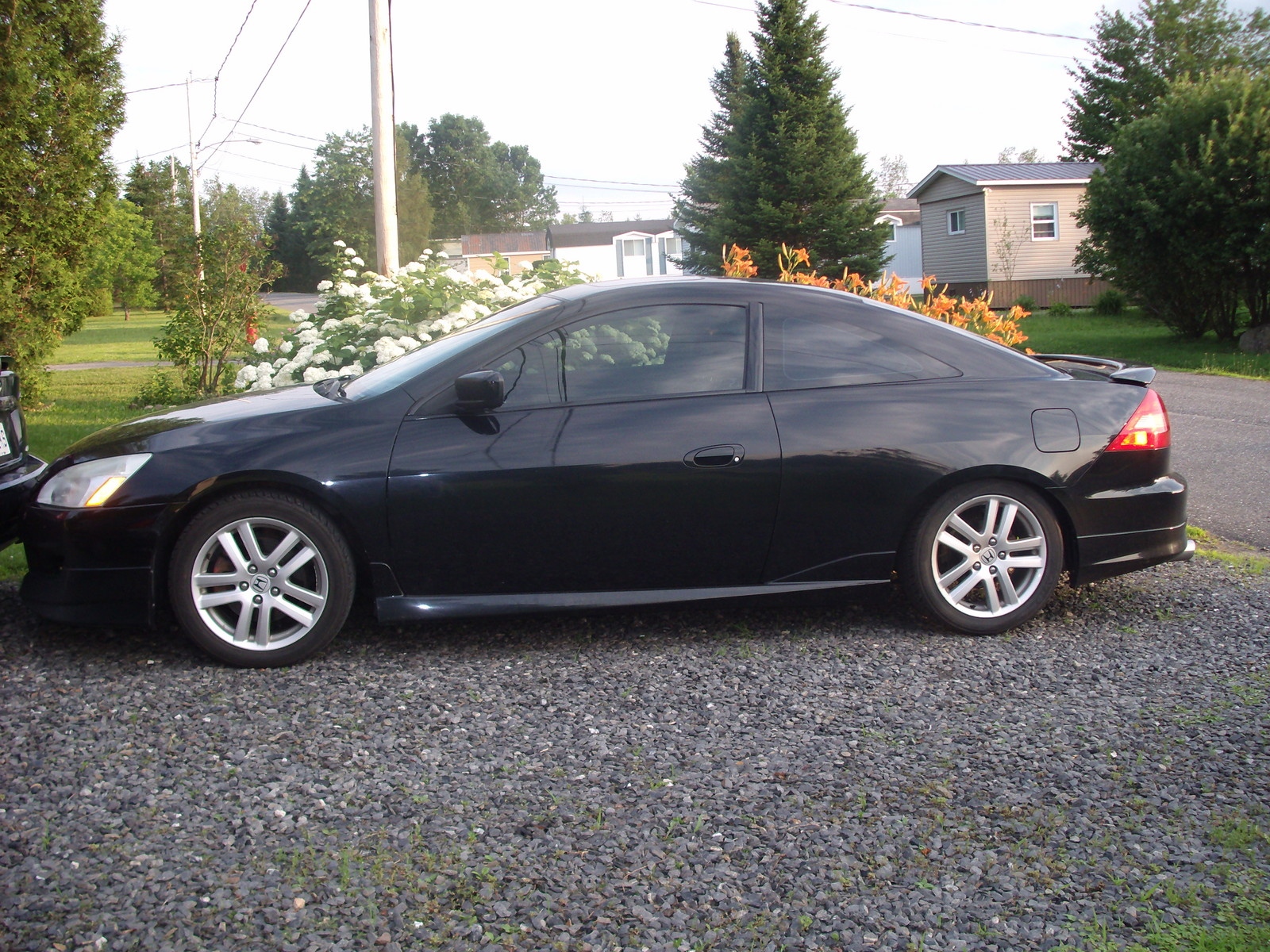 Black 2005 Honda Accord Ex Coupe V6 6 Sd
