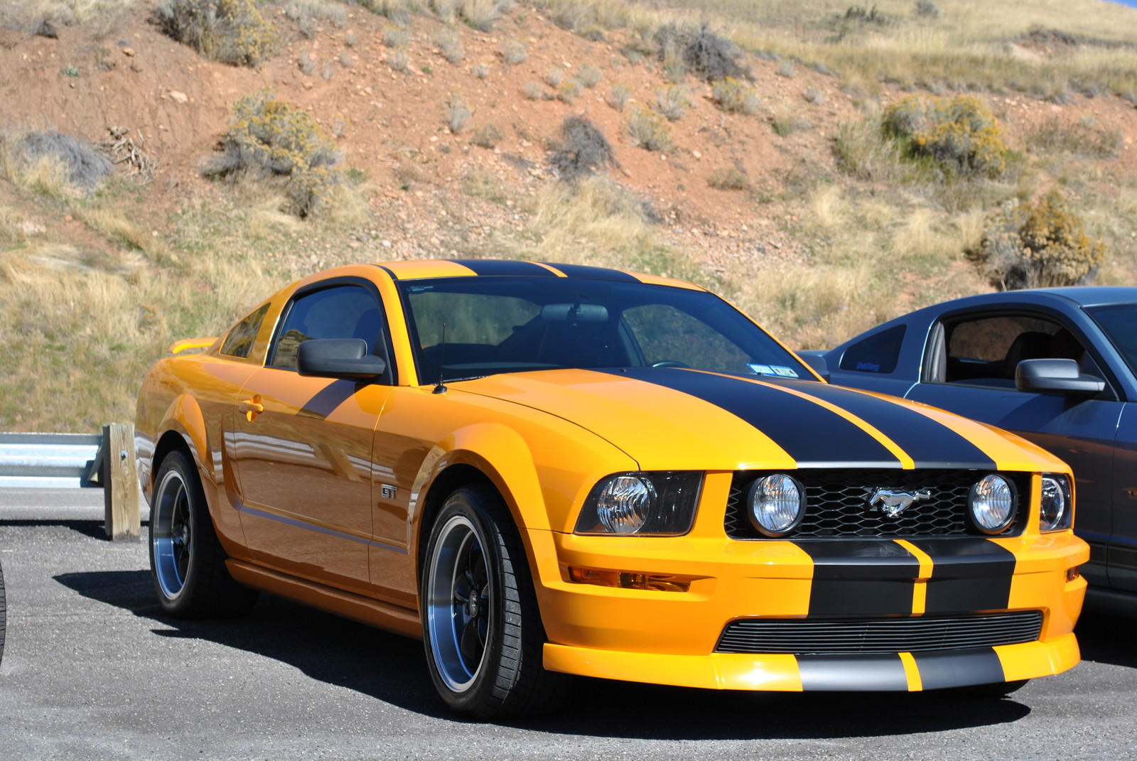 Grabber orange 2007 ford mustang gt