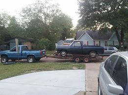 Blue 1985 Dodge Ram Pickup d150
