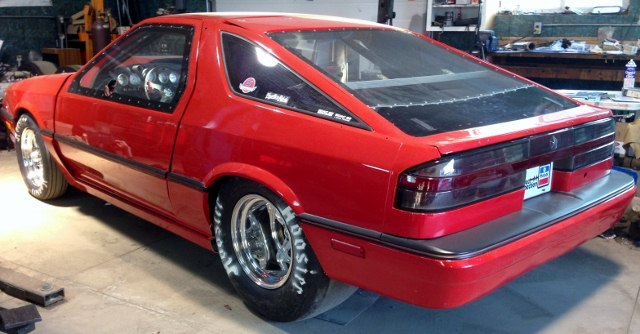 Red 1987 Dodge Daytona Shelby Z