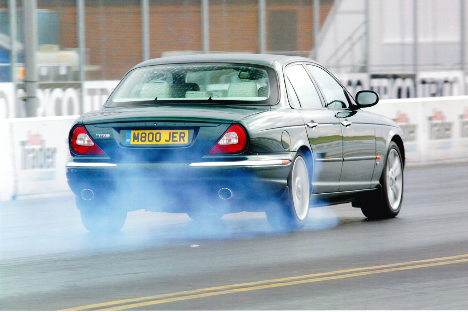green 2003 Jaguar XJR X350