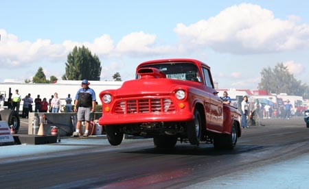 Auto Drag Racing on 1956 Chevrolet Pickup 1 4 Mile Drag Racing Timeslip Specs 0 60