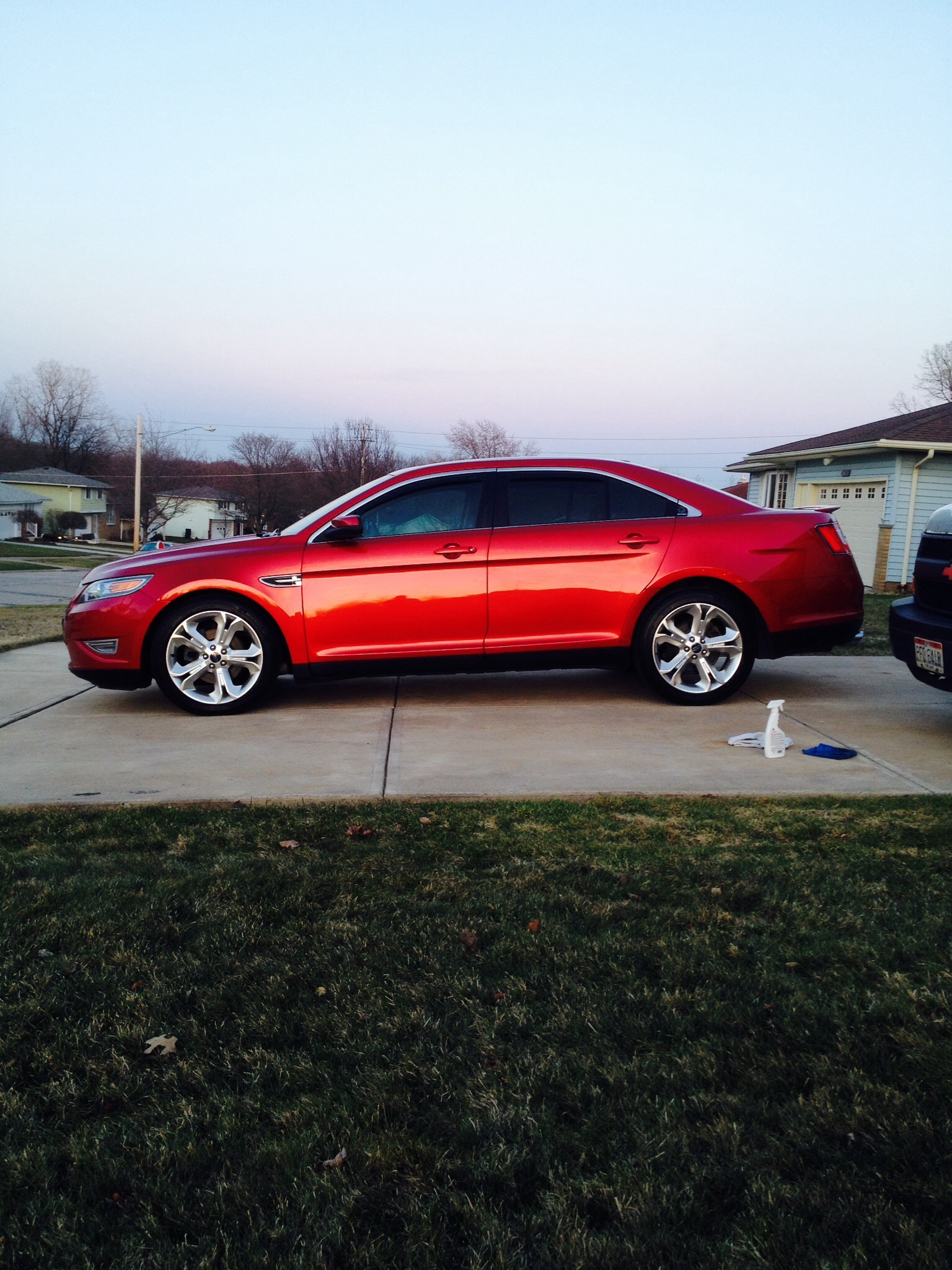 Red candy metallic  2010 Ford Taurus SHO