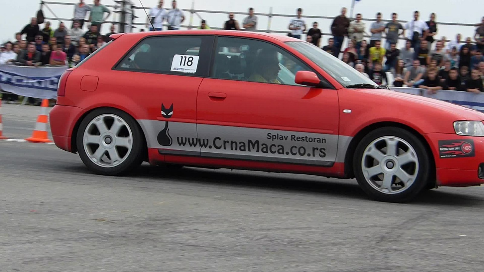 Red 2002 audi s3 quattro
