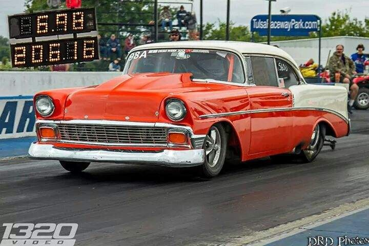 Orange/Cream 1956 Chevrolet Two-Ten SportsCoupe