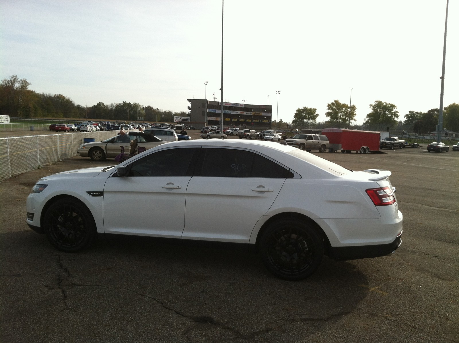 White Platinum 2013 Ford Taurus SHO