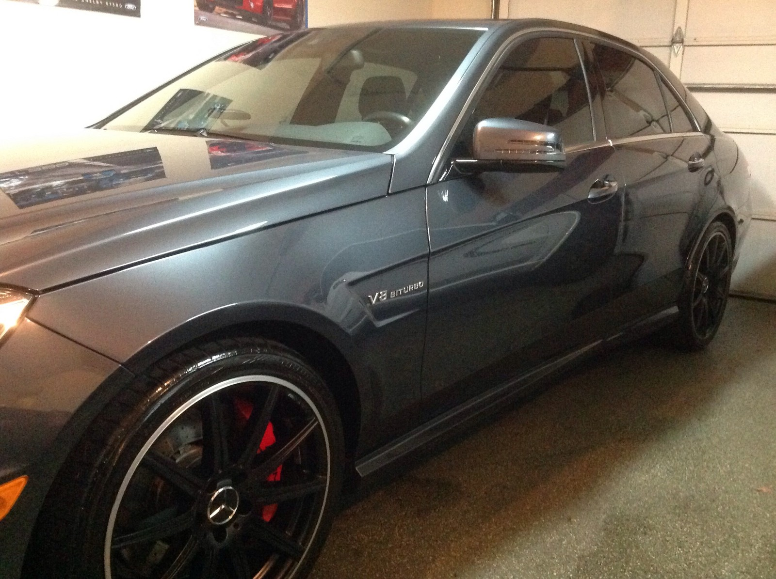 Steel gray metallic 2012 Mercedes-Benz E63 AMG AMS