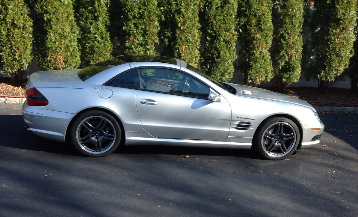 2003 mercedes benz sl55 amg convertible 1 4 mile trap speeds 0 60. Black Bedroom Furniture Sets. Home Design Ideas