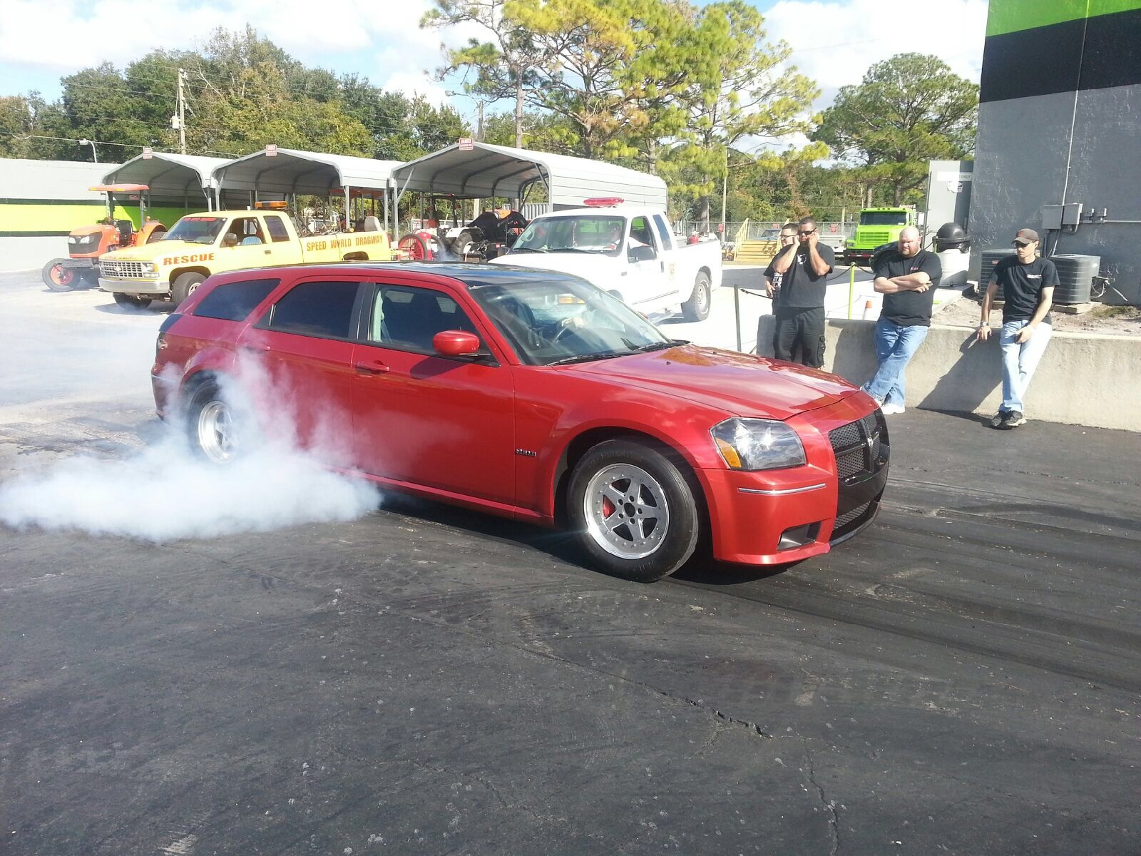Red 2006 Dodge Magnum SRT8 Twin 67mm Turbo