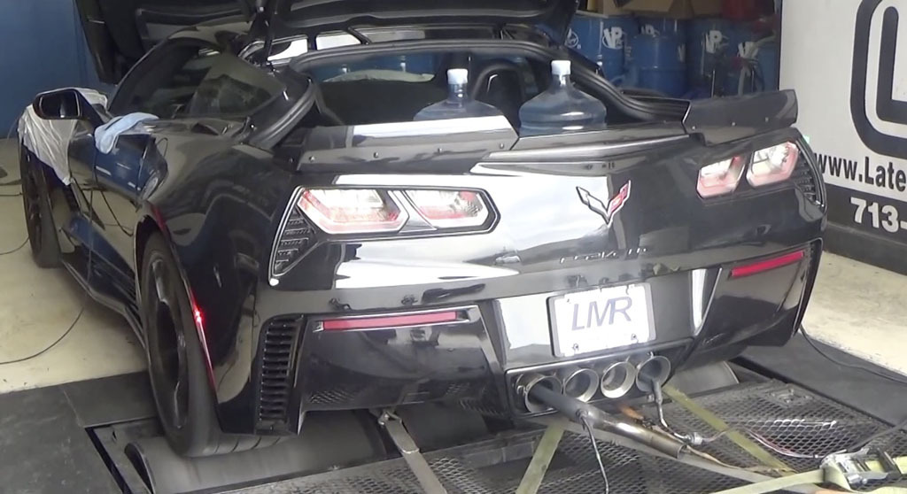 2015 Chevrolet Corvette C7-Z06 Tune, exhaust Dyno Sheet Details