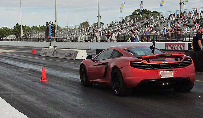 McLaren MP4-12C AMS Tune runs 10.150 @ 138.190 MPH in the 1/4 mile