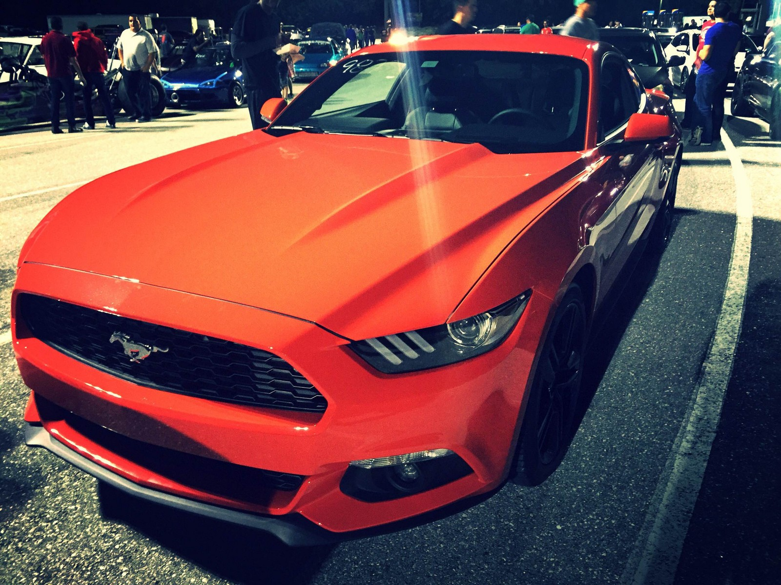 Competition orange 2015 ford mustang ecoboost premium