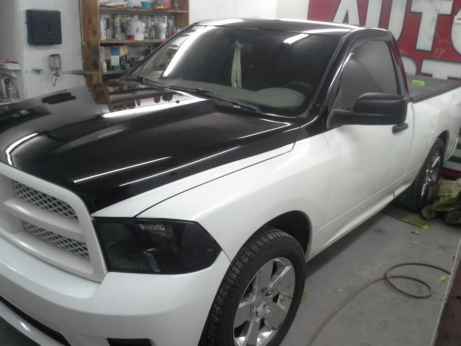 2011 white&black two tone Dodge Ram 1500 slt picture, mods, upgrades