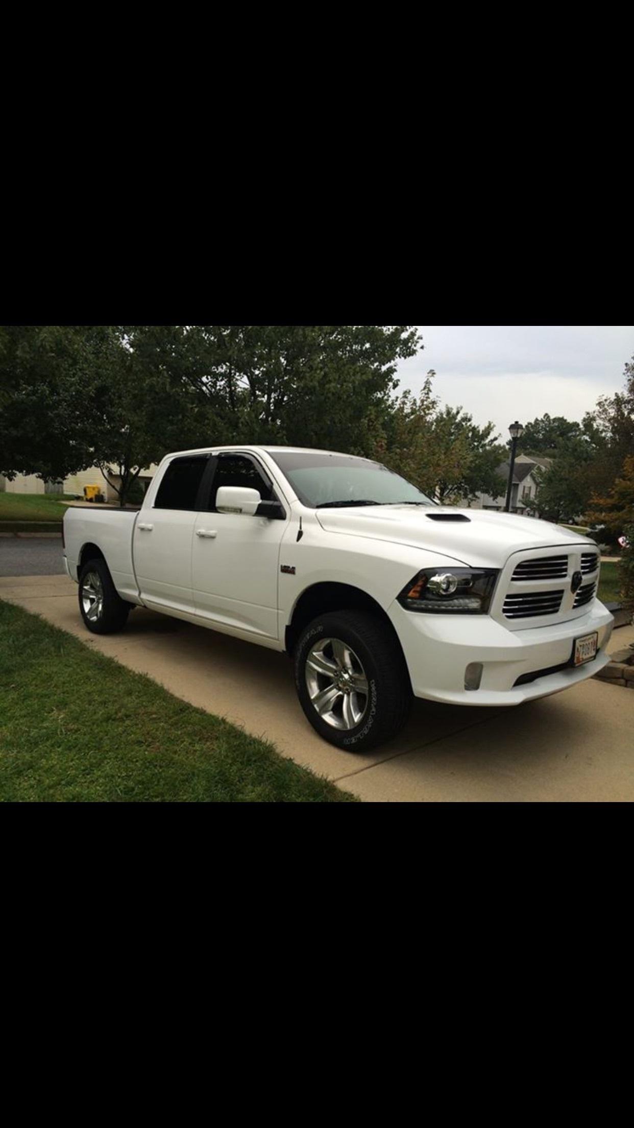 2014 White Dodge Ram 1500 Sport Crew Cab Pictures Mods Upgrades Wallpaper Dragtimes Com
