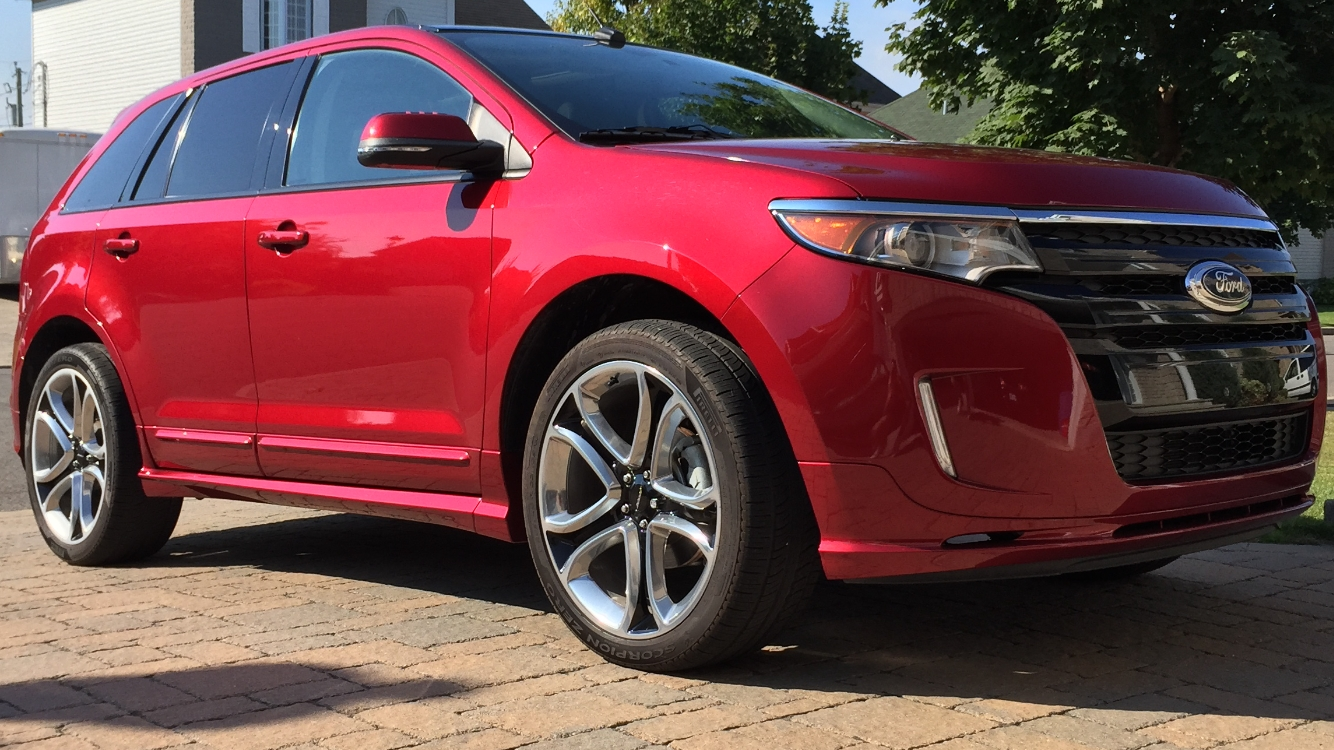 Red  Ford Edge Sport Awd