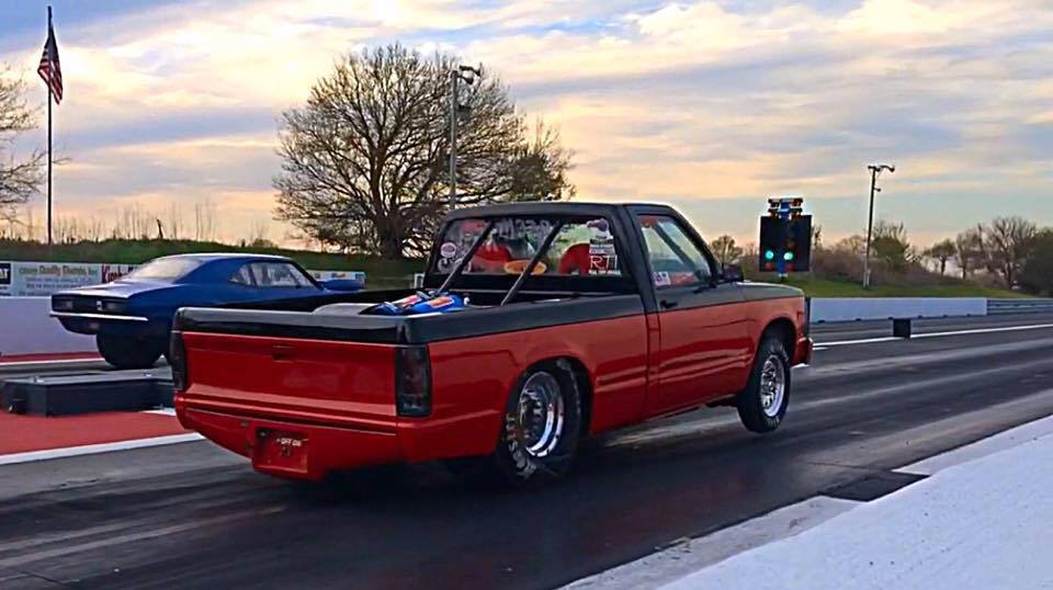 1987 Chevrolet S10 Pickup 1  8 Mile Drag Racing Timeslip 0