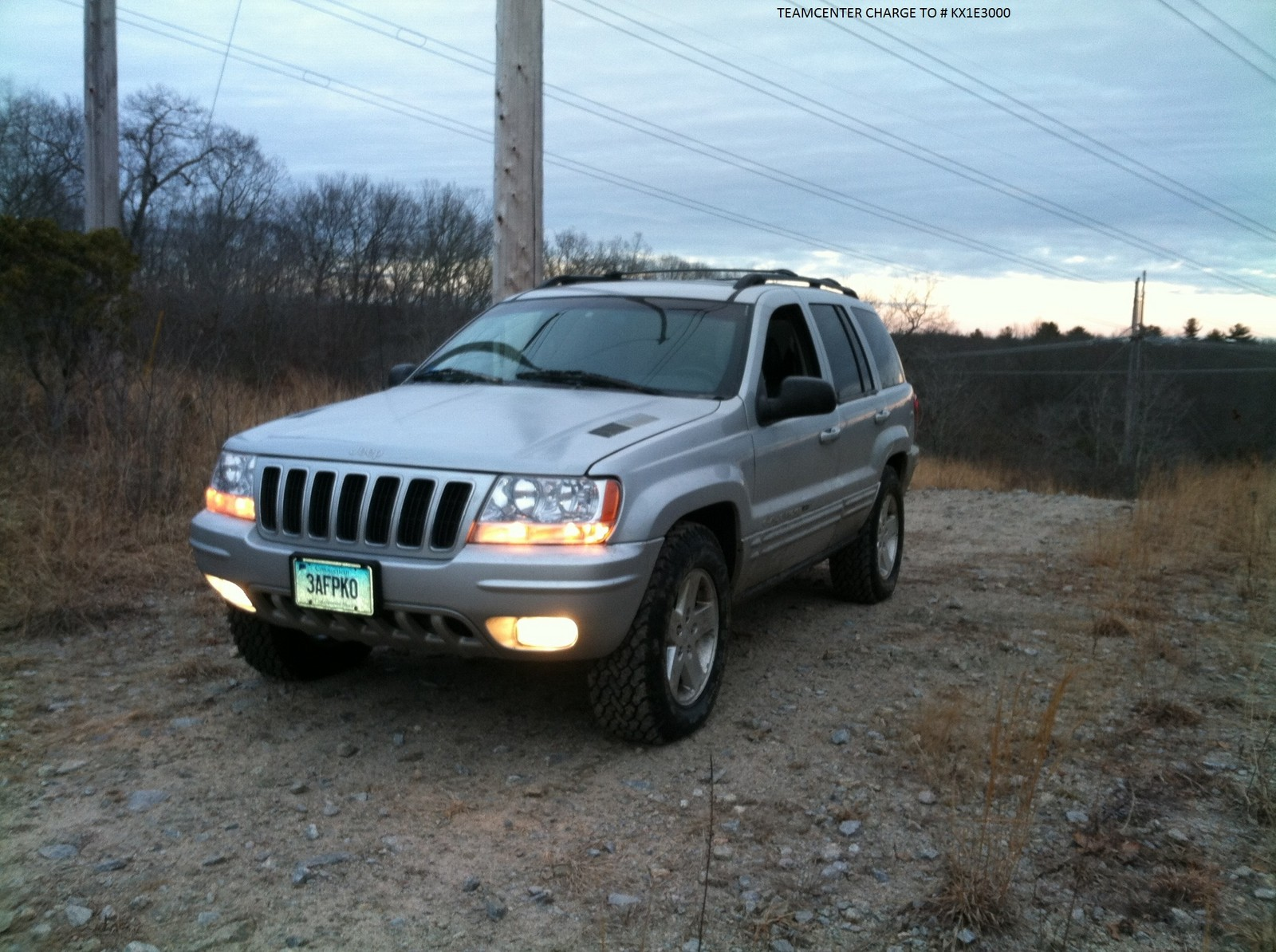 sliver 2003 Jeep Grand Cherokee limited