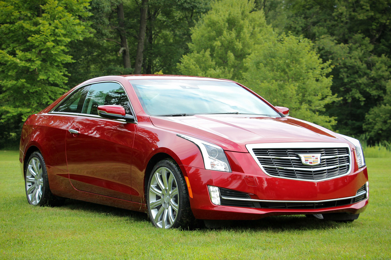 RED 2015 Cadillac ATS COUPE 3.6