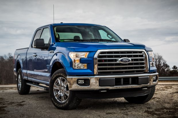 BLUE 2015 Ford F150 XLT SUPERCAB ECOBOOST