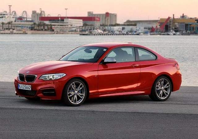 RED 2015 BMW 228i COUPE