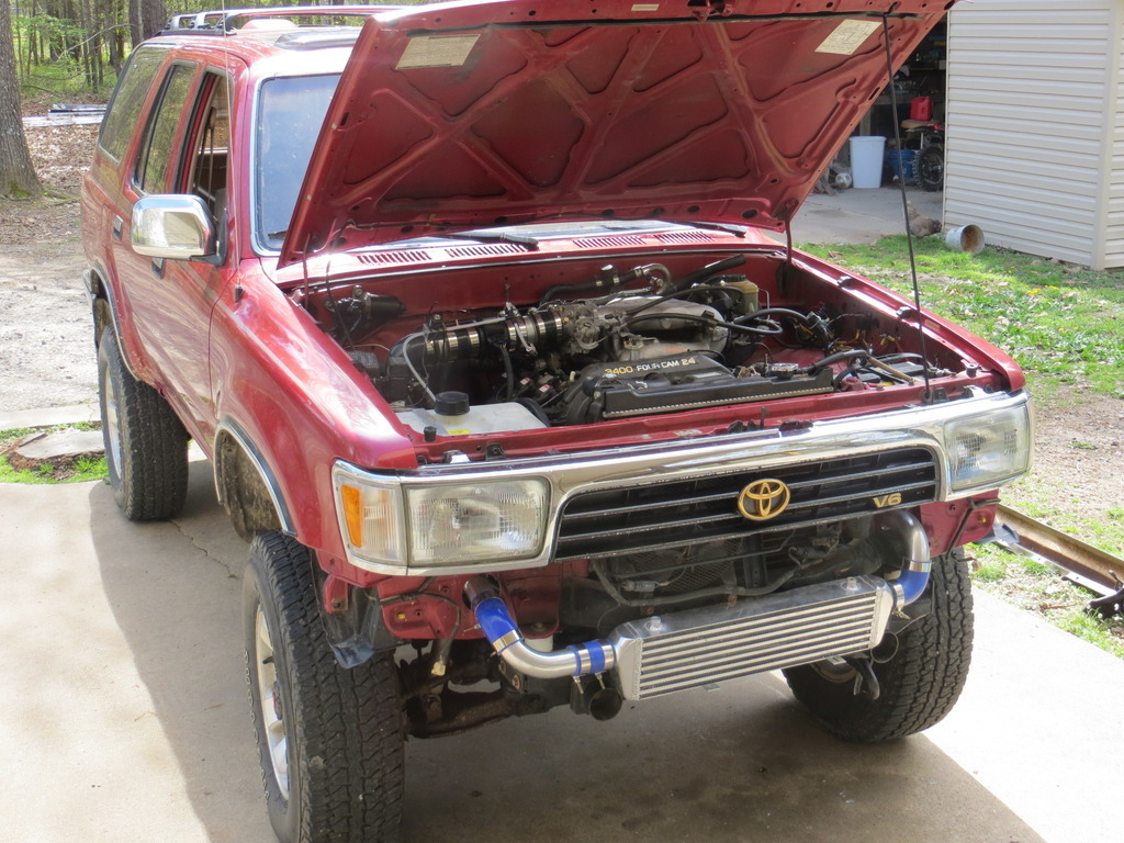 1995 Toyota 4runner 4x4 1 8 Mile Drag Racing Timeslip 0 60
