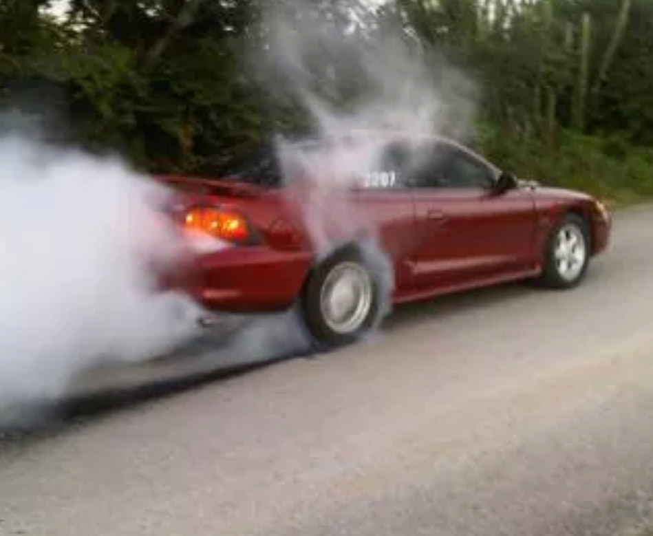Laser Red 1996 Ford Mustang Coupe GT