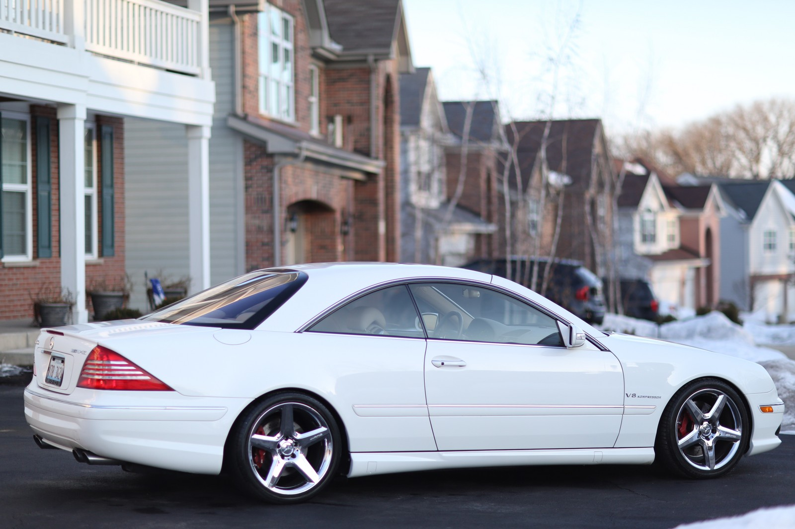 White 2005 mercedes benz cl55 amg