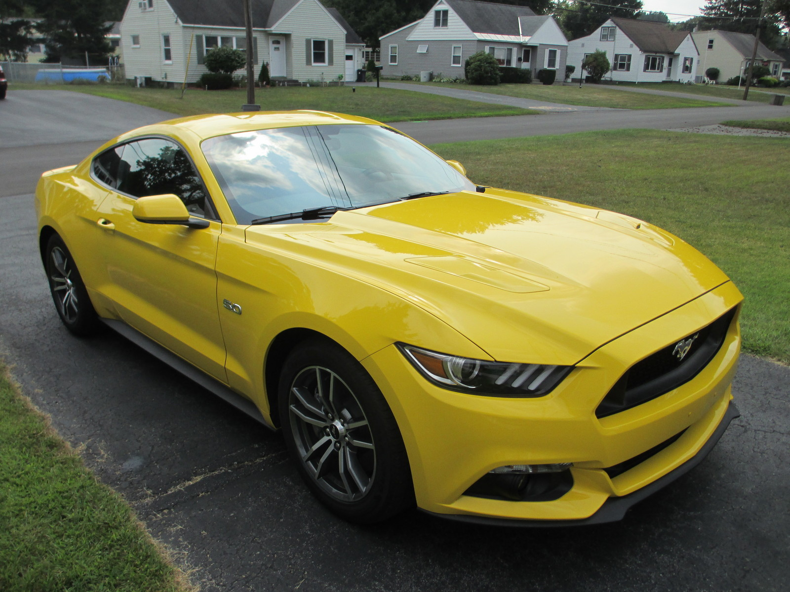 Triple yellow 2015 ford mustang gt