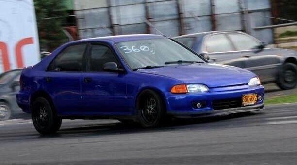 Blue 1993 Honda Civic Ex
