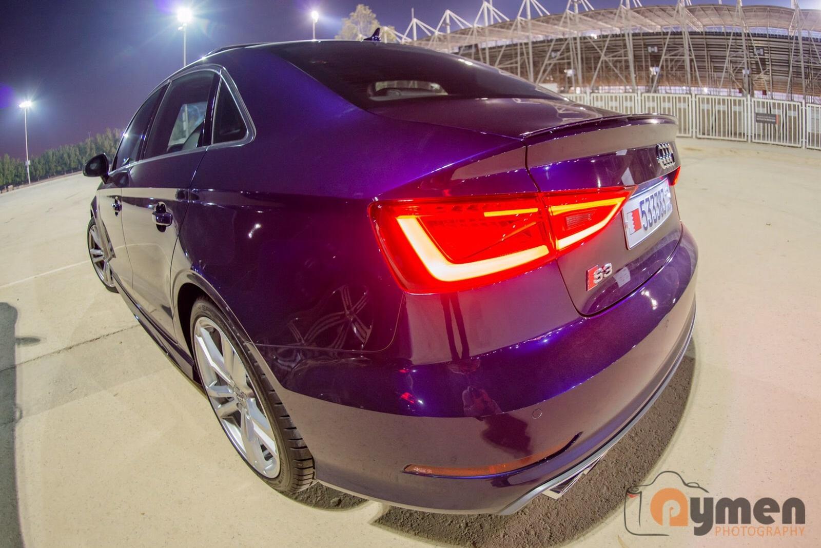 Exclussive Samtviolett Perleffekt 2016 Audi S3 Sedan