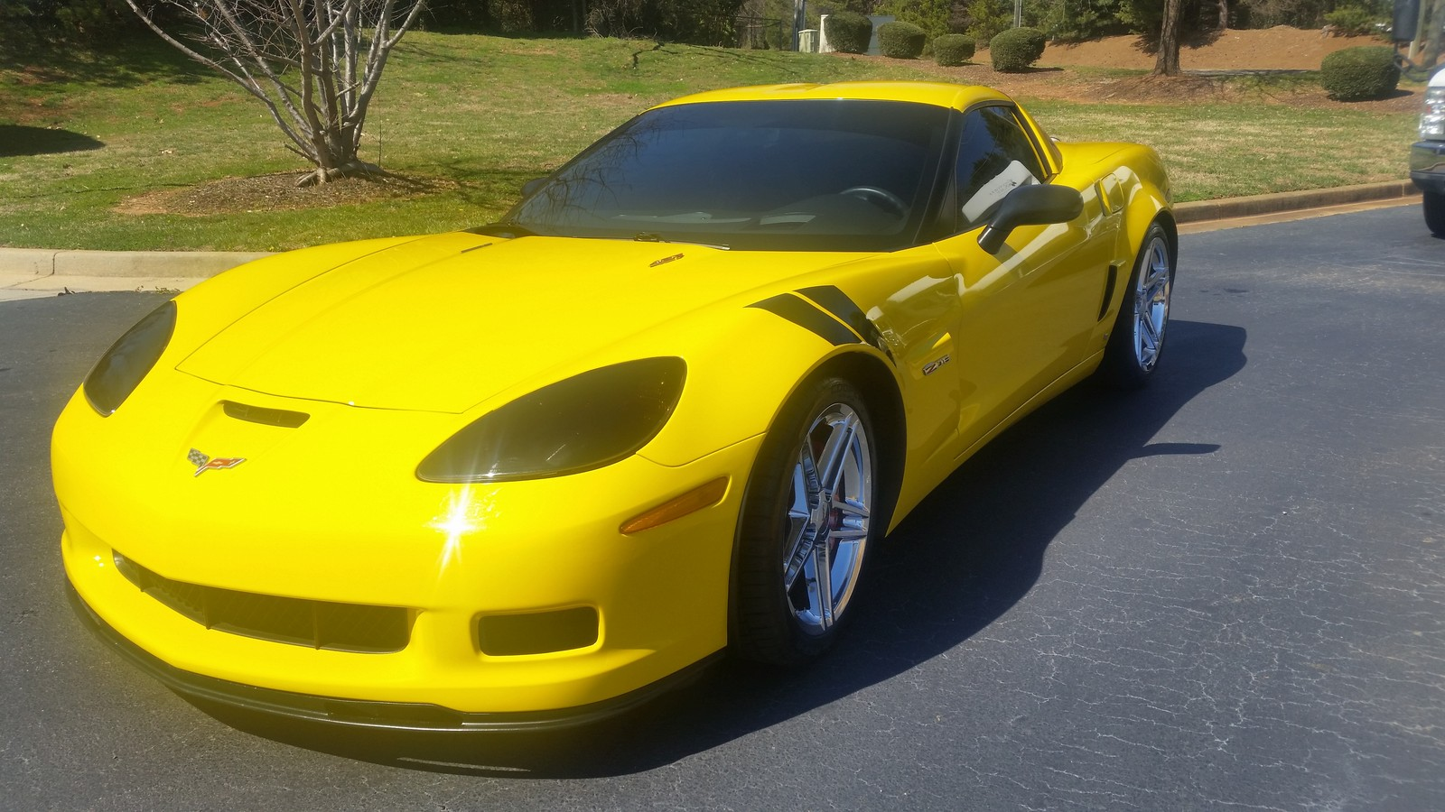 Yellow 2008 Chevrolet Corvette ZO6