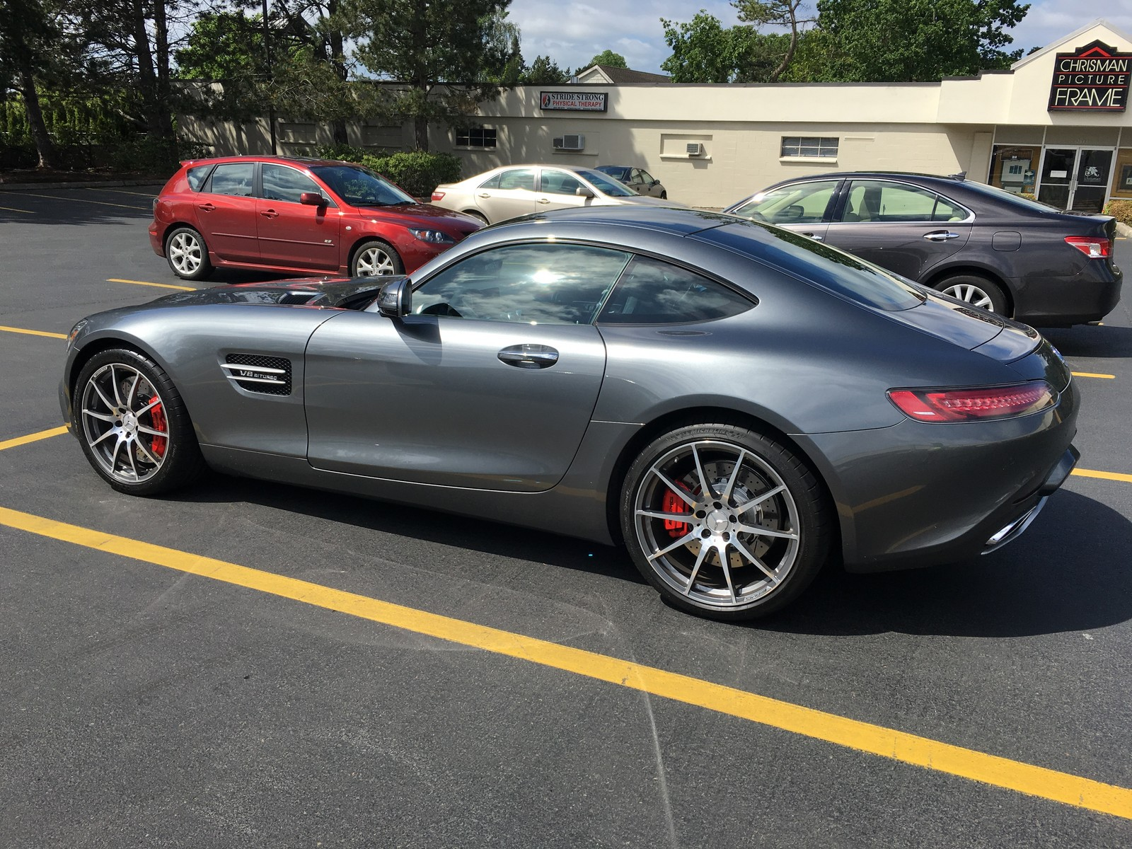 Selenite grey 2016 Mercedes-Benz AMG GTS