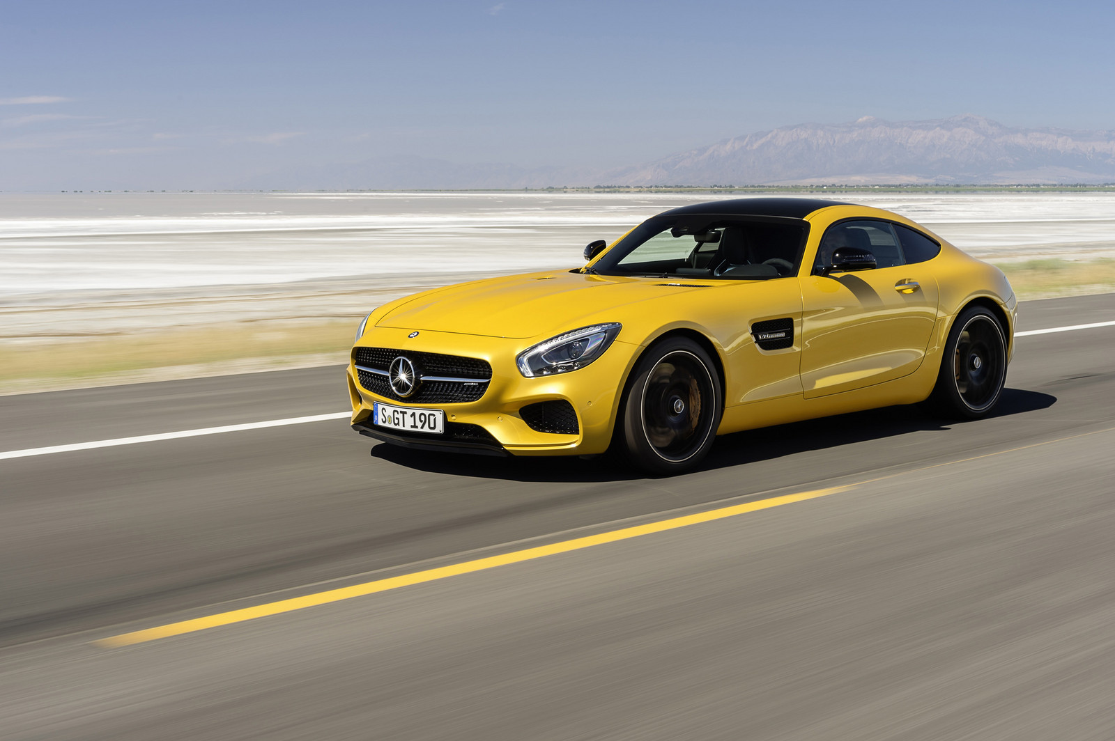 yellow 2016 Mercedes-Benz AMG