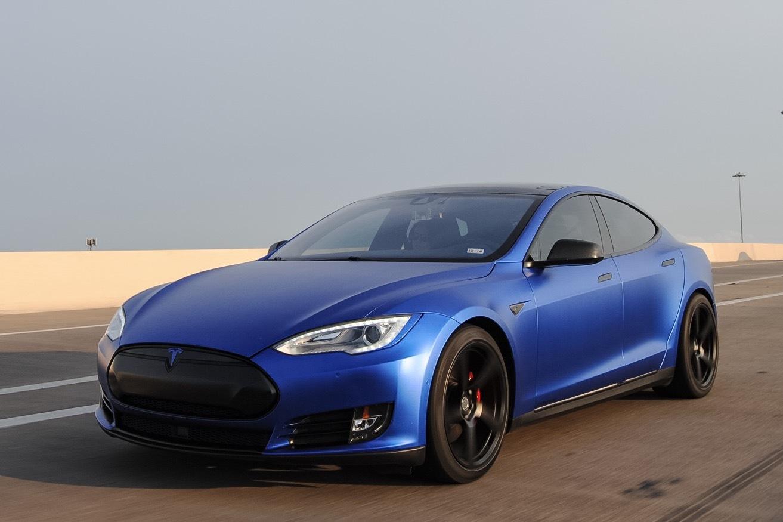 Stock 2014 Tesla Model S P85dl 1 4 Mile Drag Racing
