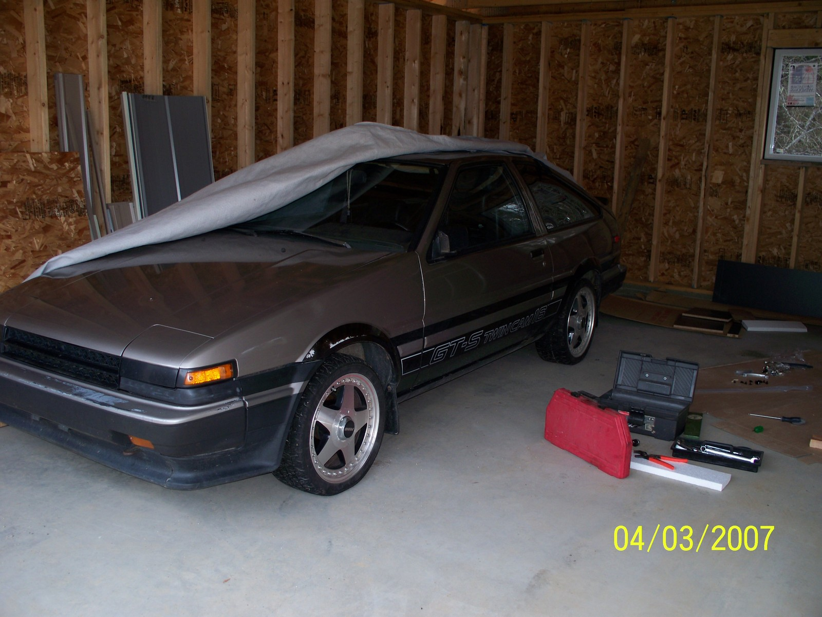 Gray and Black 1985 Toyota Corolla GT-S