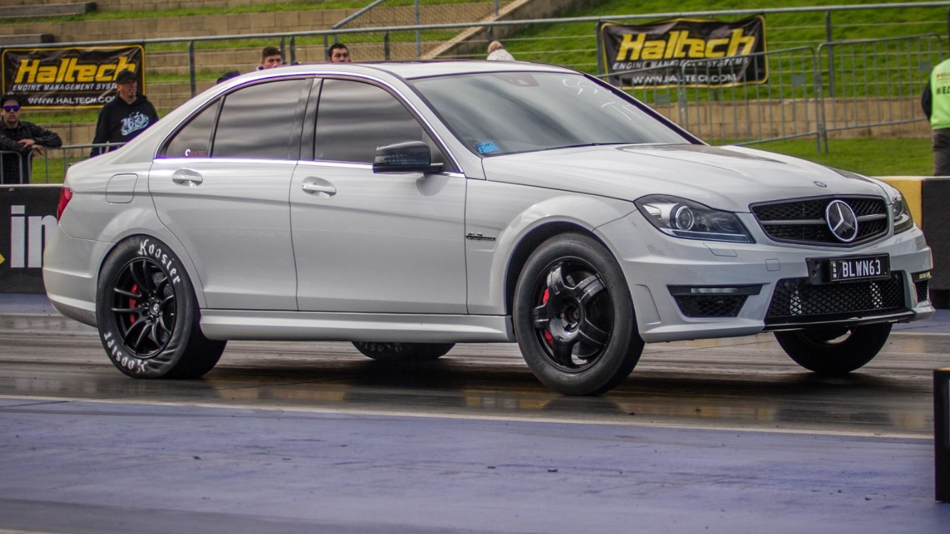 2012 Mercedes Benz C63 AMG Weistec stage 3 1 4 mile Drag