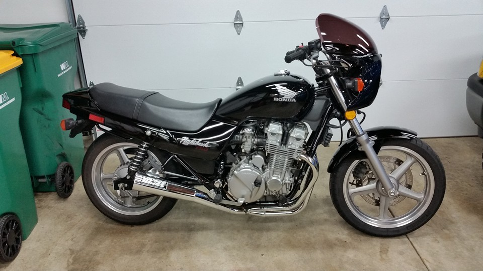 Black 1992 Honda Nighthawk CB750