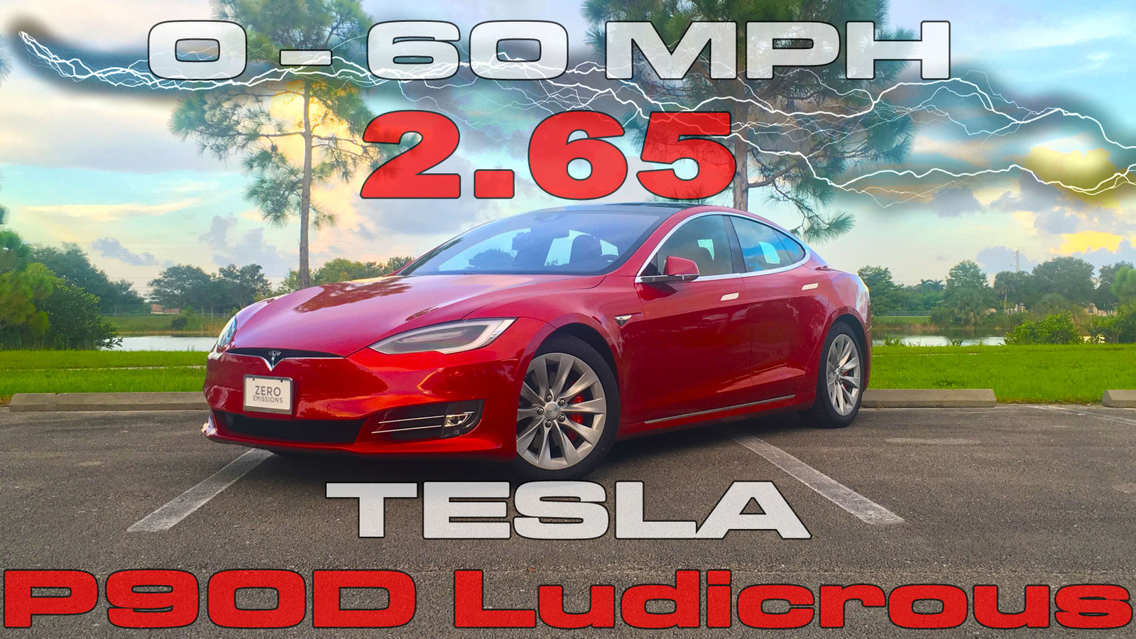 Multi Coat Red 2016 Tesla Model S P90DL V2