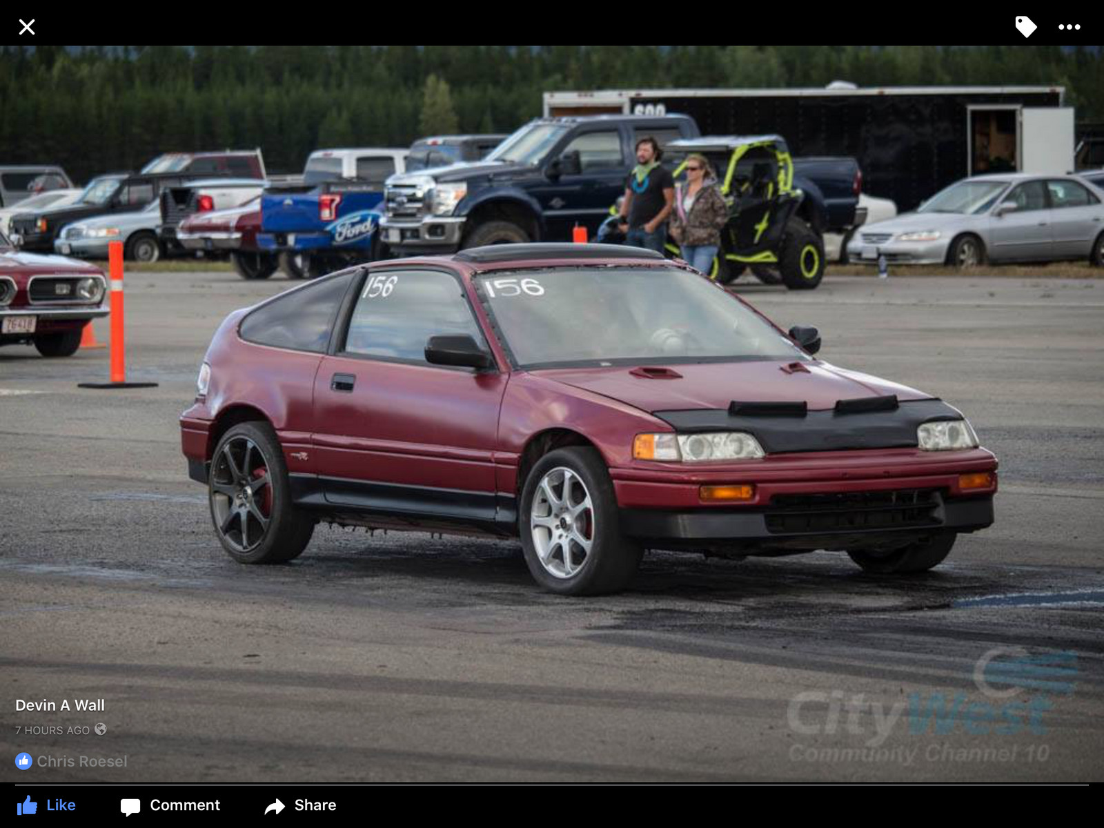 inferno red met 1989 Honda Civic CRX si