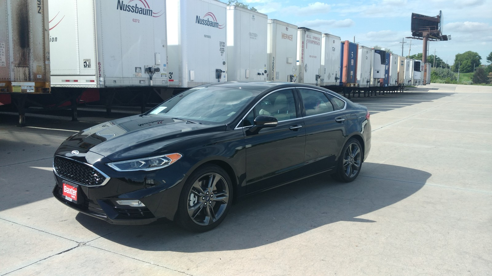 Black 2017 Ford Fusion Sport