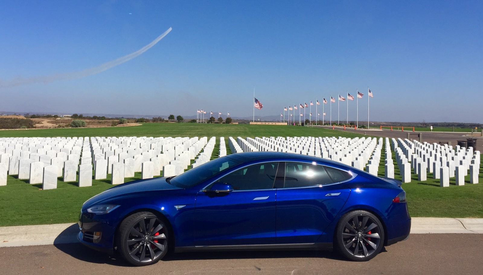 Blue 2016 Tesla Model S P90DL