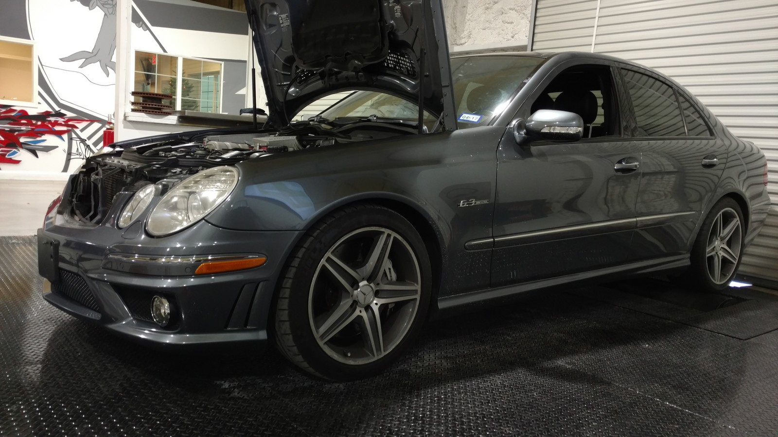 Blue 2007 Mercedes-Benz E63 AMG 130911 Miles