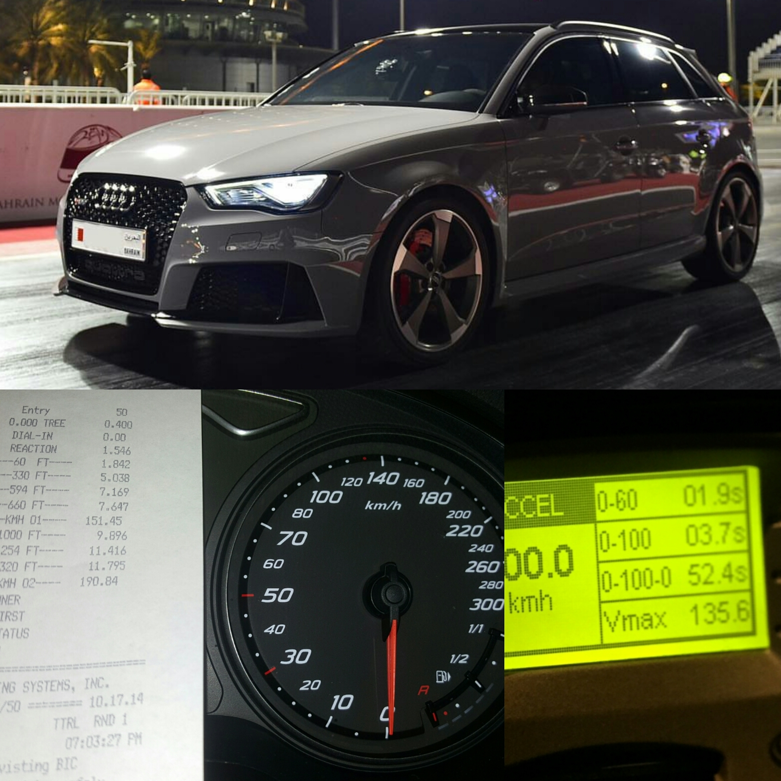 Nardo Grey 2016 Audi RS-3 8V