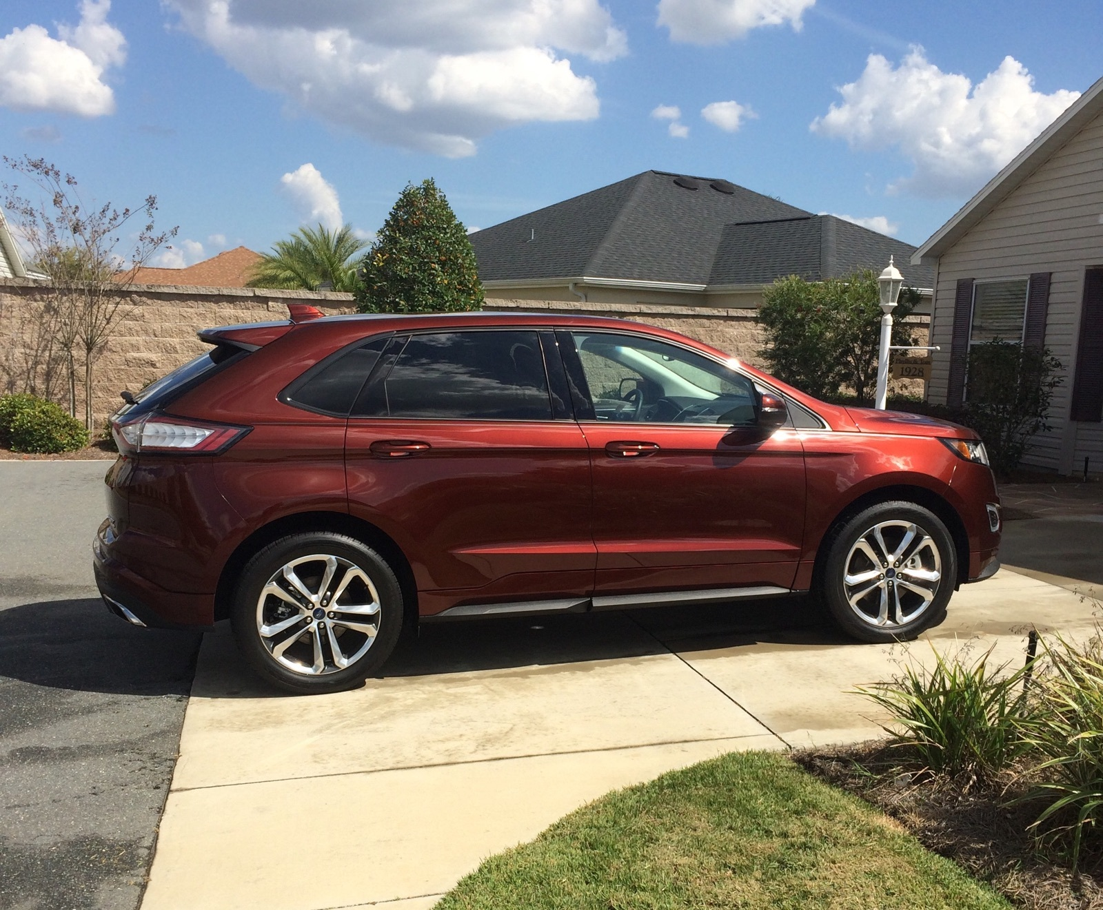 Bronze Fire 2016 Ford Edge Sport AWD