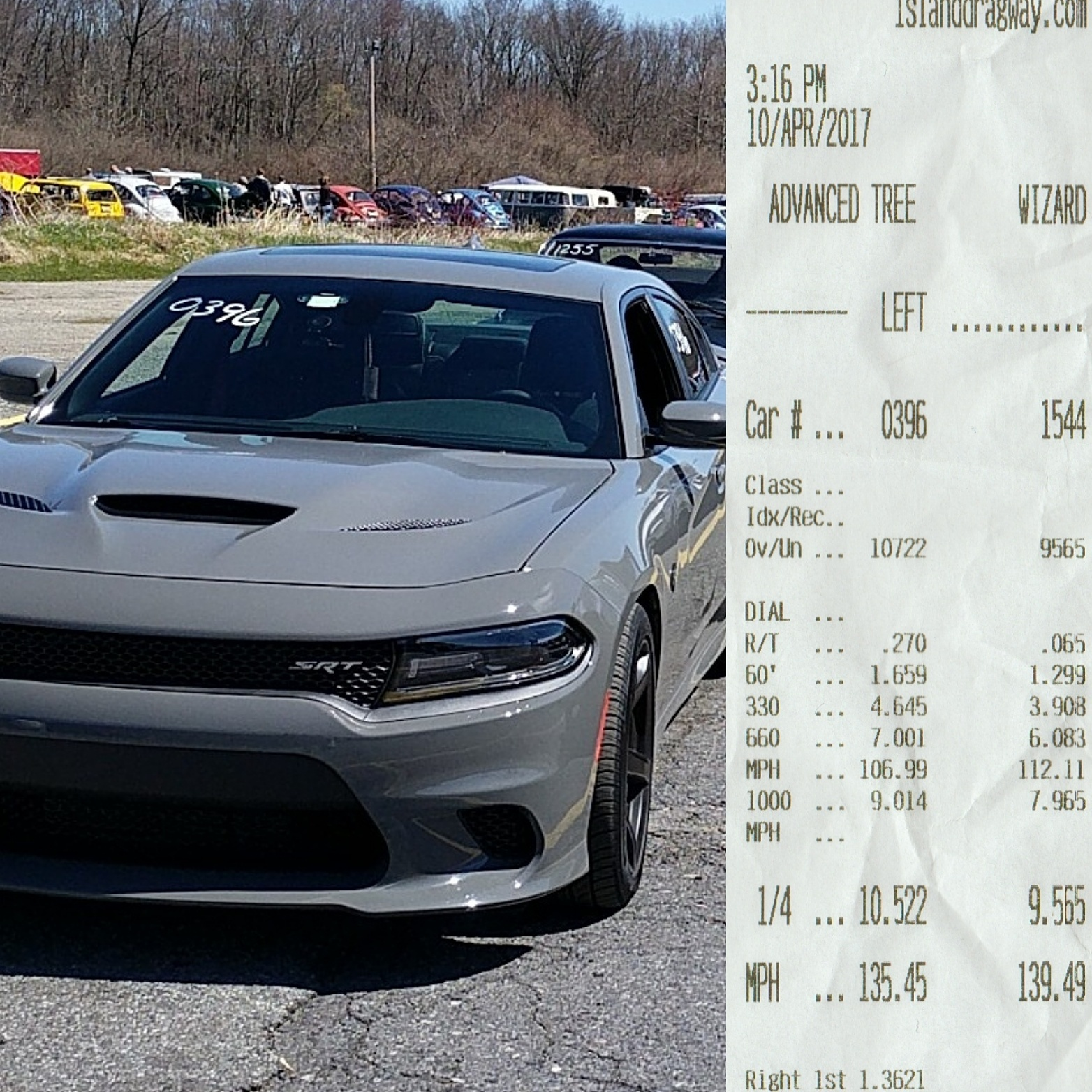 2017 Dodge Charger Hellcat 1 4 Mile Drag Racing Timeslip Specs 0 60