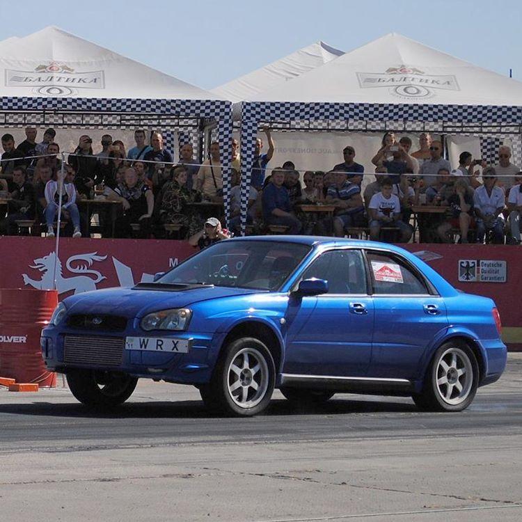 Blue 2003 Subaru Impreza Wrx