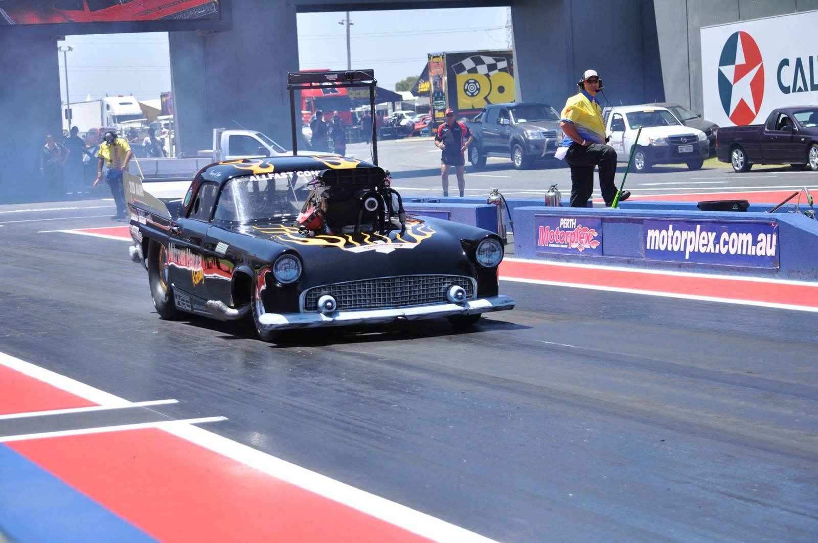 Ford Extended Warranty >> 1955 Ford Thunderbird Coupe 1/4 mile trap speeds 0-60 - DragTimes.com